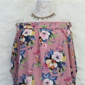 Sexy Off the Shoulder Beautiful Floral Top